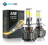 honda civic 1997 fog lights - 120W 12000LM LED Headlight High/Low Beam Fog DRL Conversion Kit Light Bulbs 6000K White 3 Year Warranty (H4)