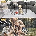 BestPet Puppy Pet Playpen 8 Panel Indoor Outdoor Metal Protable Folding Animal Exercise Dog Fence,24″,30″,36″,42″,48″