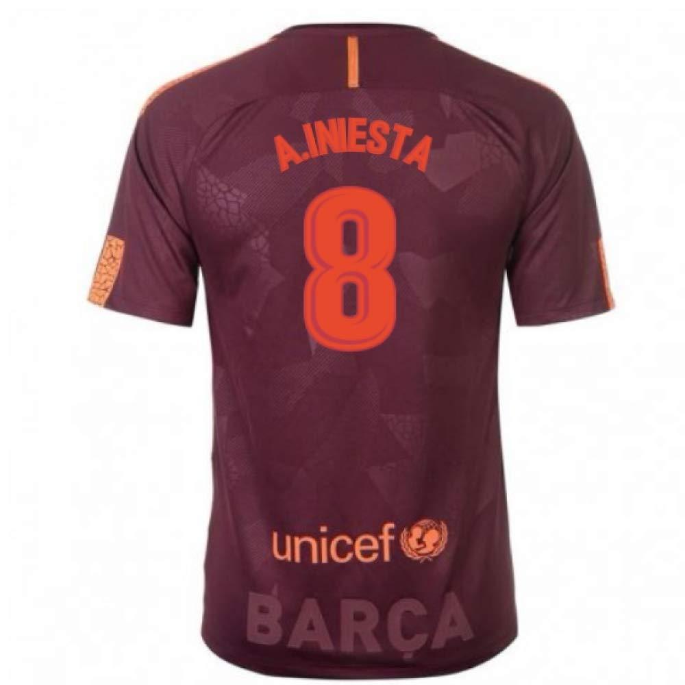 2017-18 Barcelona Nike Third Football Soccer T-Shirt Trikot (Andres Iniesta 8)