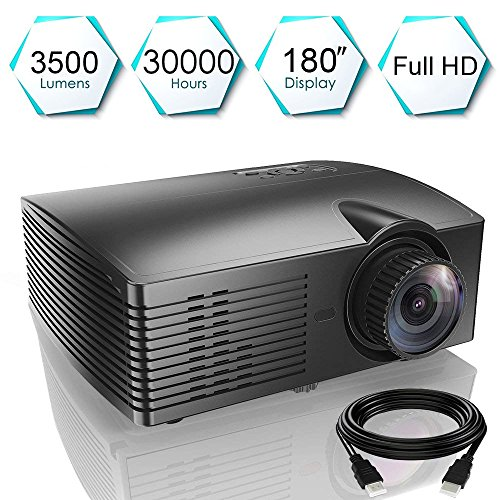 HD Movie Projector 3500 Lumens 1280x800 Resolution, WEILIANTE LCD Multimedia Home Theater Video Projector Support HD 1080P HDMI VGA AV USB for Home Cinema TV Laptop Games Smartphone
