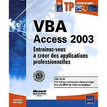 VBA Access 2003     TP Informatiques