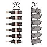 Kaluo Wall Mount 6-Bottle Wine/Tower Rack, Multi-Purpose Metal Baker Wine/Hat Rack Holders (Copper)