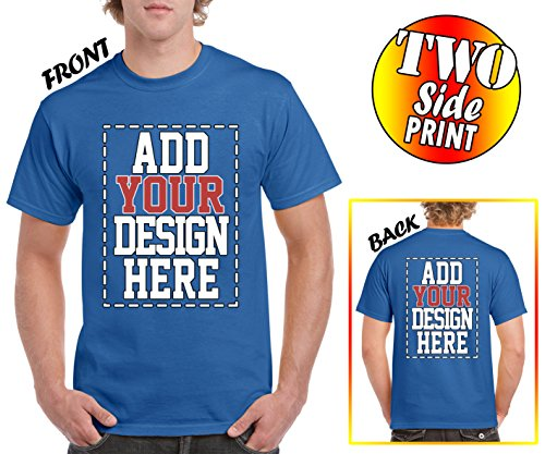 Custom 2 Sided T-Shirts - Design Your OWN Shirt - Front and Back Printing on Shirts - Add Your Image Photo Logo Text - Custom Dress Design