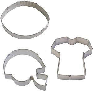 Football Cookie Cutter & Helmet Cookie cutter & T-Shirt Cookie cutter