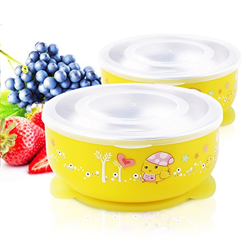 stainless steel baby bowl set - 4