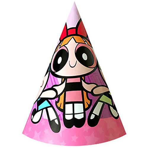 Cartoon Network The Powerpuff Girls Party Cone Hats 8 Count (Blossom, Buttercup & Bubbles)