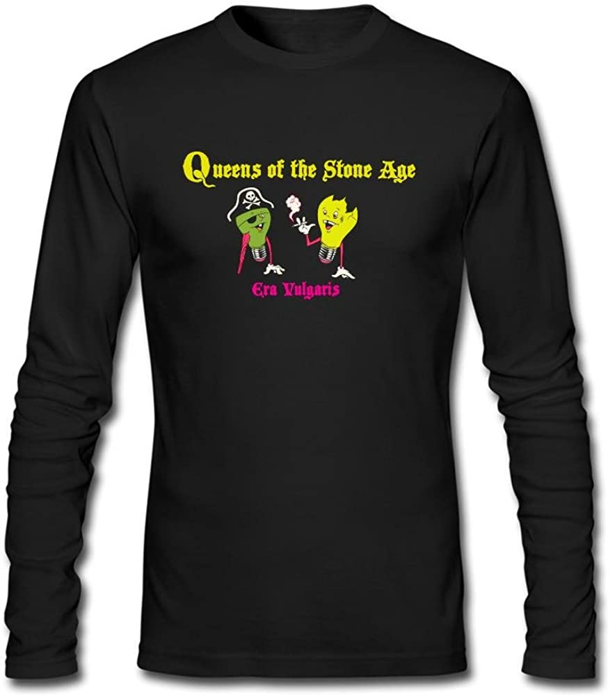 Kittyer Queens of The Stone Age - Camiseta de Manga Larga de algodón para Hombre