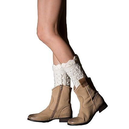 Tukistore Encajes Hueco Cortas Calentador de piernas Mujer ...