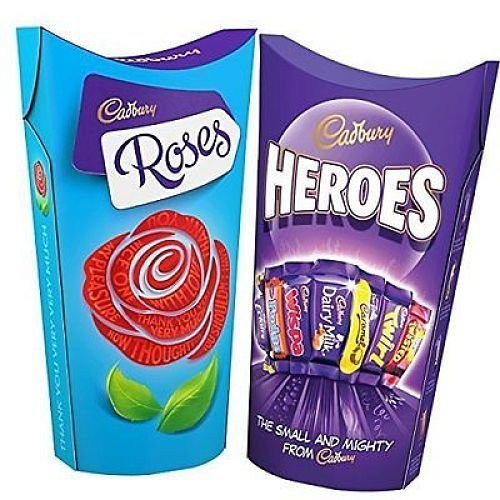 Cadbury Roses & Heroes Chocolate (Twin -
