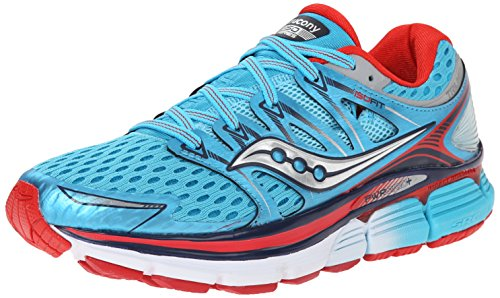 Saucony Women's Triumph ISO Running Shoe, Blue/Red, 8 M US