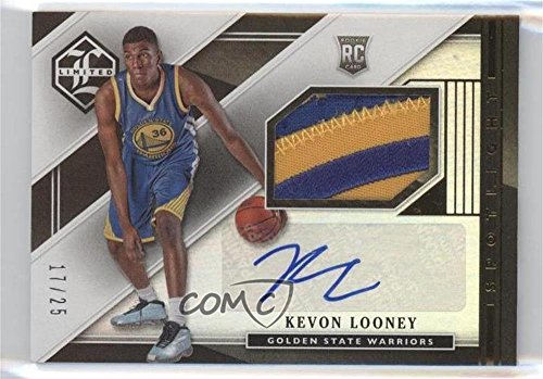 Kevon Looney #17/25 (Basketball Card) 2015-16 Panini Limited - Rookie Jersey Autographs - Spotlight Gold #RJA-KL