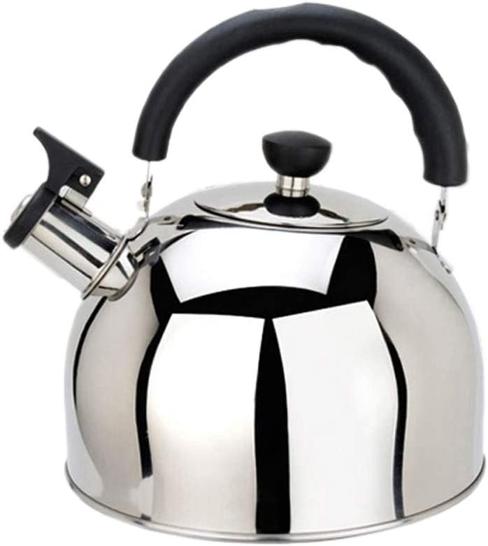 Ergonomically Designed Kettle Stove Top Whistle Teapot Stainless Steel 3 5L Suitable for Induction Cooker Gas Stove Can Make Boil Milk Or Coffee (Size : 4L)