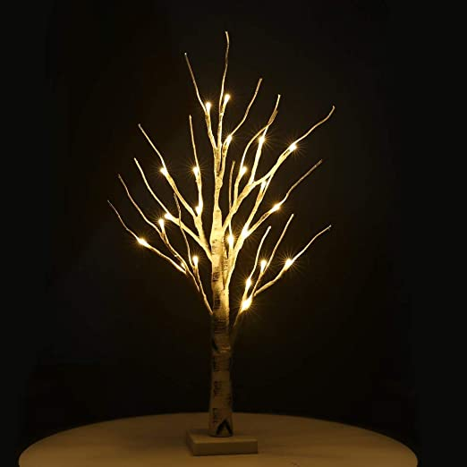 Birch Tree Light,Easter Tree with Lights Silver Birch Twig Tree Warm White Light White Branches Lighted Willow Branches for Christmas Home Party Wedding Indoor Outdoor Decoration