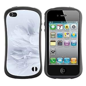 "Hypernova Slim Fit Dual Barniz Protector Caso Case Funda Para Apple iPhone 4 / iPhone 4S [Pétalos Snowdrop Pétalo Sombra Sutil""]"