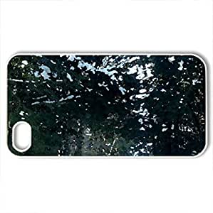 Anstruther Forest Road - Case Cover for iPhone 4 and 4s (Winter Series, Watercolor style, White) by supermalls