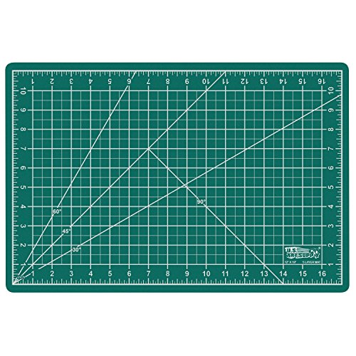 US Art Supply 12'' x 18'' GREEN/BLACK Professional Self Healing 5-Ply Double Sided Durable Non-Slip PVC Cutting Mat Great for Scrapbooking, Quilting, Sewing and all Arts & Crafts Projects by US Art Supply