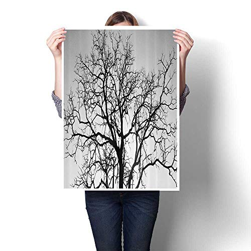 Panels Wall Art Waves Painting on Canvas Dead Old Branches Arms Limbs Sadness Symbol Tree of Life Offshoot Paintings for Home Decorations,12