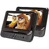 Sylvania SDVD7750 Dual 7-Inch Portable LCD DVD Player - Black (Certified Refurbished)