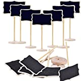12 Pcs Creative gifts small blackboard mini blackboard children blackboard vertical message board Decoration prices sign seat cards