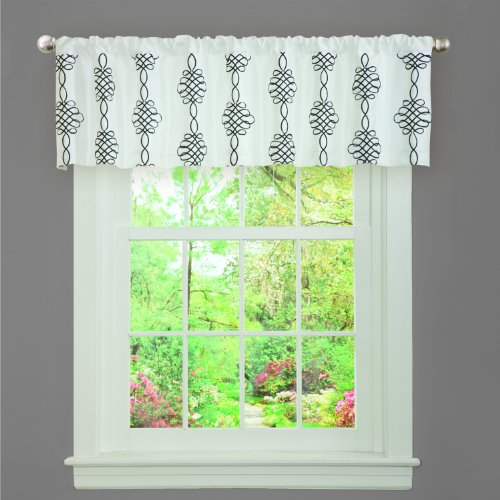 Lush Decor Isabella Valance, 18-Inch by 84-Inch, White ()
