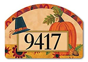 Yard Sign Pilgrim Pumpkin Yard Sign 14 x 10 inches