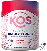 KOS Organic Reds Blend Supplement - Delicious Goji Berry Popsicle Flavor- Red Superfood Powder - ...