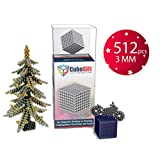CubeGift - Set of 512 (3mm) Innovative Buildable Magnets - Office Toy & Stress Relief for Adults