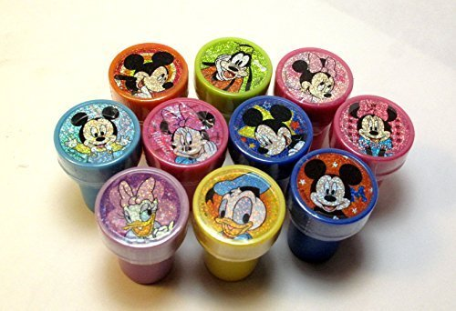 Disney Mickey and Minnie Clubhouse Self-inking 10pc Stamps Party Favors - Mickey Stamps