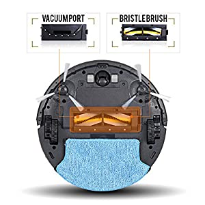 ROLLIBOT GENIUS BL800 – Robotic Vacuum Cleaner. Vacuum's, Sweeps, and Wet Mops Hard Surfaces and Carpet. from RolliBot