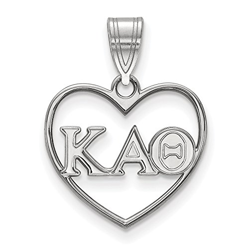 Roy Rose Jewelry Sterling Silver Kappa Alpha Theta Heart Pendant