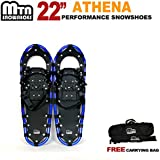 MTN Snowshoes MTN 22 Inch Snowshoes with Nordic Pole and Bag - Gold / White