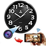 RISHIL WORLD 1080P Full HD WiFi Hidden IP Camera Night Vision Smart Phone PC Real Time Viewing Recording Clock Single Item.