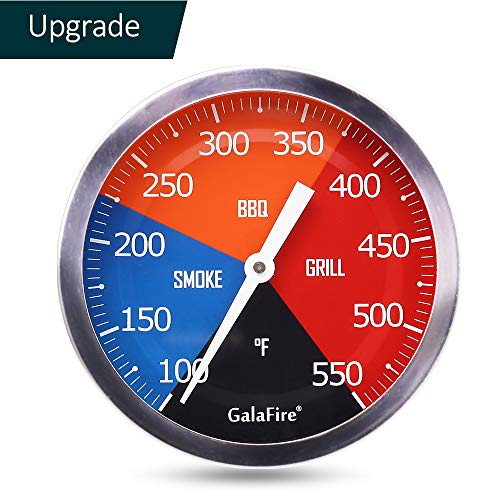 """GALAFIRE 3 3/16"""" Large Face 550 °F BBQ Grill Thermometer Wood Smoker Temperature Gauge"""