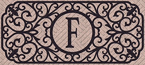 Evergreen Flag 431241FBL Filigree Monogram Letter F Embossed Sassafras Switch Mat