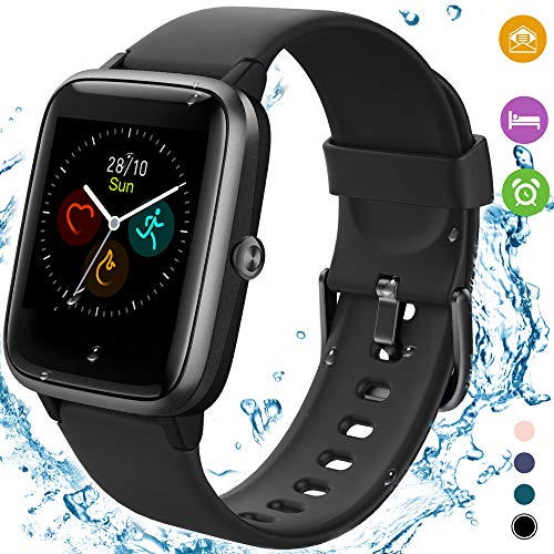 [2020 Latest] High-End Fitness Trackers,Health Sports Smart Watch with Heart Rate & Sleep Monitor,Calorie Step Counter,1…