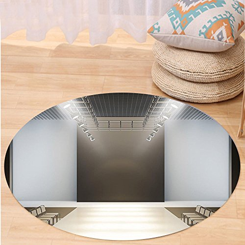 Kisscase Custom carpetFashion House Decor Photo of Empty Fashion Runaway in Building with Lighting Catwalk Decor for Bedroom Living Room Dorm Silver Grey
