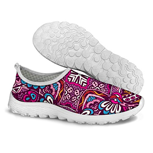 DESIGNS Summer a Stylish For U Running Sport Breathable Lightweight Shoes FOR Women Mesh Red Sw1xAF