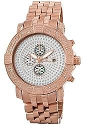 "JBW Men's JB-6115-H ""Gotham"" Chronograph Pave Dial Diamond Metal Watch"
