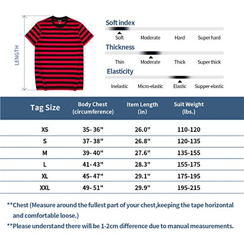 Zengjo Mens Striped Shirt Short Sleeve T-Shirts