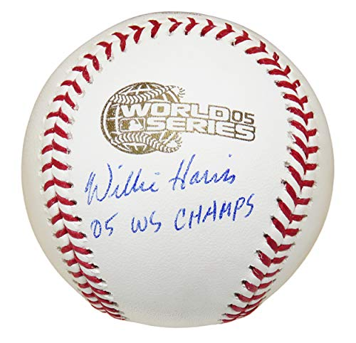 - Willie Harris Signed Baseball - Rawlings Official 2005 World Series w 05 WS Champs - Autographed Baseballs