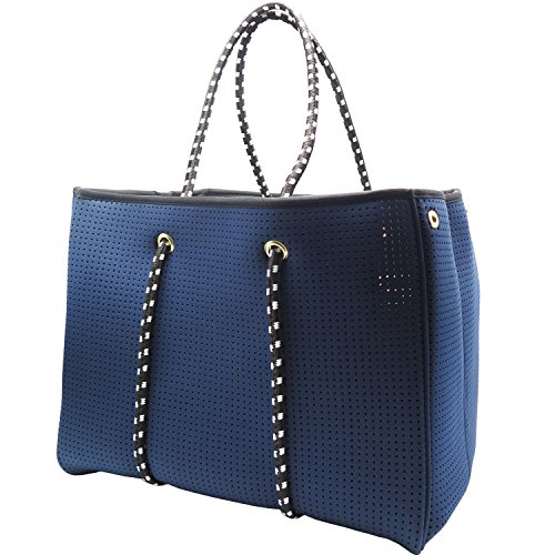 Neoprene Beach Bag Tote - Large Daily Mesh Bag (Navy Blue) by Penn & - Warehouse Bag Beach