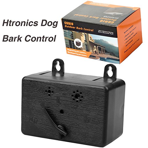 Htronics Mini Outdoor Sonic Dog Bark Control Devices Ultrasonic Training Dog Stop Barking Limiter Anti-Bark for Hanging or Mounting