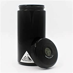 Mypharmjar Miron Glass Curing Jar 1 Liter w/digital humidity/temp sensor (embedded in lid)