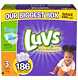 Luvs With Ultra Leakguards Diapers, Size 3, 186 Count (One Month Supply)