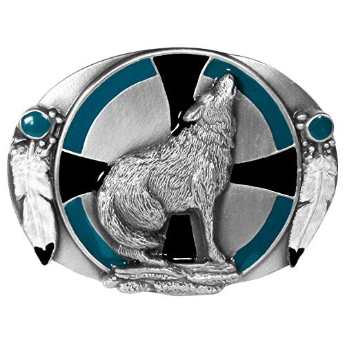 Siskiyou Southwest Wolf Enameled Belt Buckle