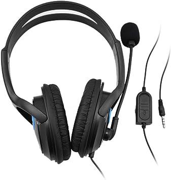 doco Oler 3,5 mm Wired Gaming Auriculares través de oído Parte Headset Stereo Bass Auriculares con micrófono Volumen para PC Laptop PS4 Smartphone: Amazon.es: Electrónica