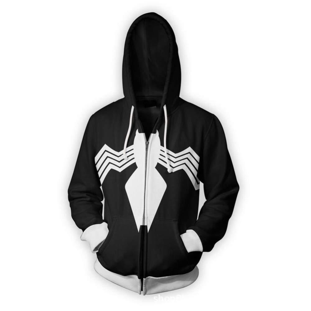 C L WTZFHF Mode Unisexe 3D nouveauté imprimé à Capuche encapuchonné Sweatshirt, Super-héros Cosplay voituredigan Pull Spider Man série encapuchonné chandail