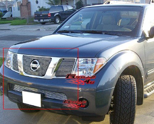 Pathfinder Billet (05-07 Nissan Pathfinder/Frontier Billet Grille Grill Combo Insert # N67966A)