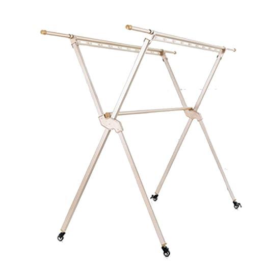 LM-Coat rack Perchero pie Perchero, con polea Plegable ...