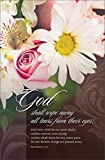 Funeral Bulletin - ''God shall wipe away all tears...'' - KJV - (Package of 100)